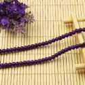 Beads, Glass, Dark purple , Round shape, Diameter 4mm, 40 Beads, [BHB0128]
